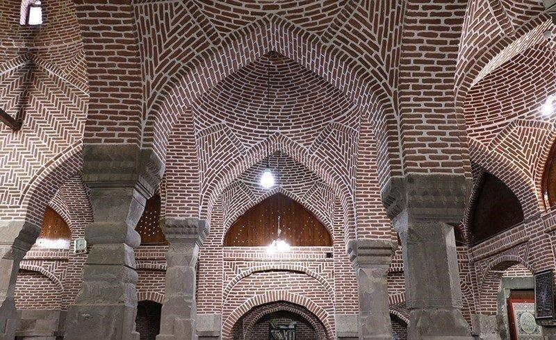 آخرین وضعیت بناهای تاریخی در استان های درگیر زلزله ، وضعیت مسجد تاریخی ترک در کانون زلزله